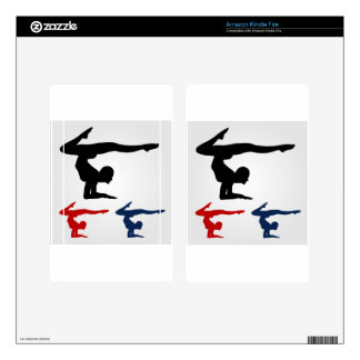 Yoga pose decal for kindle fire