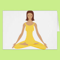 Yoga Pose Girl Card