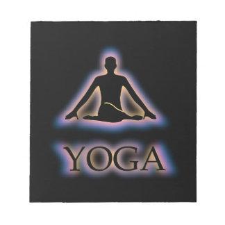 Yoga pose glowing in dark- Cow face gomukhasana Note Pad