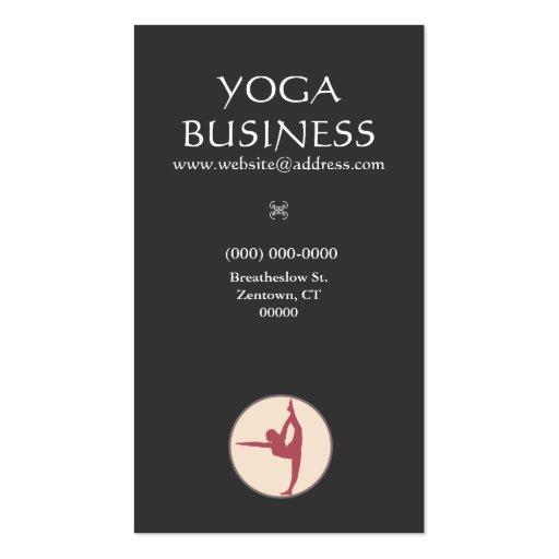 Yoga Pose Groupon Business Card