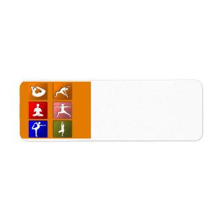 Yoga Pose Icons Label