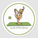 Yoga pose - Lord of the Dance Classic Round Sticker