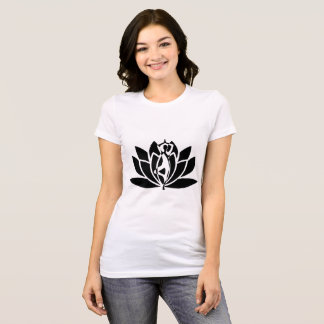 Lotus flower yoga pose womens clothing apparel zazzle yoga pose lotus flower t shirt mightylinksfo