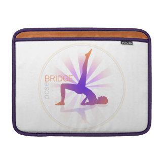 Yoga Pose Macbook Sleeve (bridge pose)