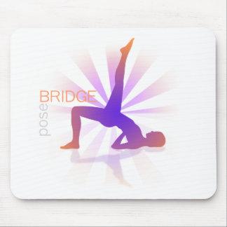Yoga Pose Mousepad (bridge pose)