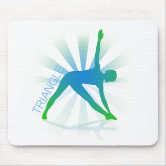 Yoga Pose Mousepad (triangle)