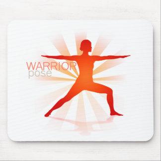 Yoga Pose Mousepad (warrior pose)