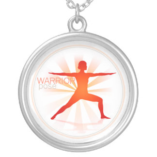 Yoga Pose Necklace (warrior pose)