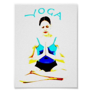 Yoga Pose on a poster
