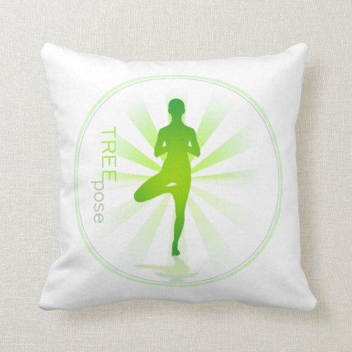 Yoga Pose Pillow (tree pose)