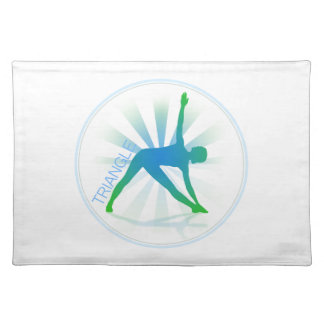 Yoga Pose Placemat (triangle)