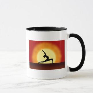 Yoga Pose Silhouette Sunrise Tea or Coffee Mug