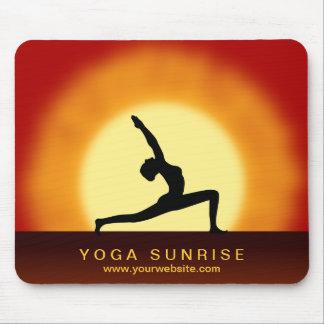 Yoga Pose Silhouette Sunrise Yoga Studio Mouse Pad