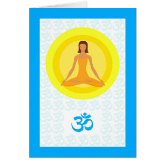 Yoga Pose, Take Time to Breathe, Om Symbol Card