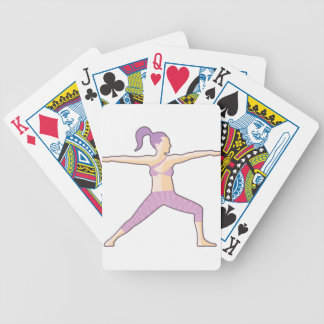 Yoga pose vector bicycle playing cards