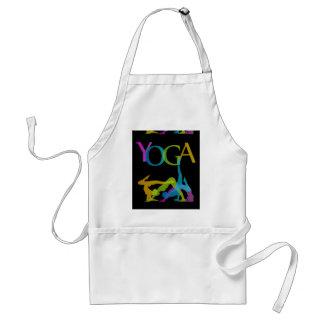 Yoga poses adult apron