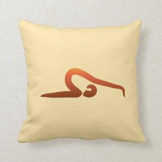 Yoga Poses/Asanas VIII Throw Pillow