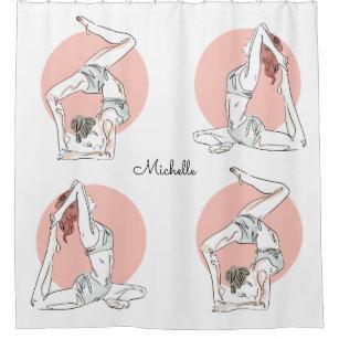 Yoga Poses Shower Curtains Zazzle