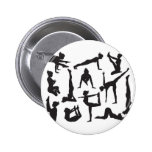Yoga poses silhouettes 2 inch round button