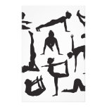 Yoga poses silhouettes personalized stationery
