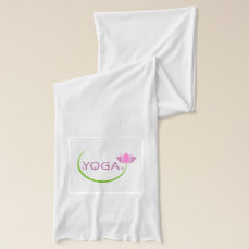 YOGA poses with a pink lotus Scarf