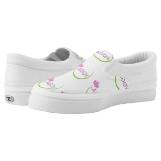 YOGA poses with a pink lotus Slip-On Sneakers