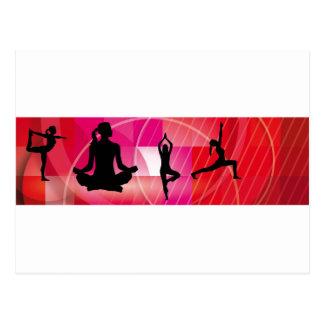 yoga position postcard