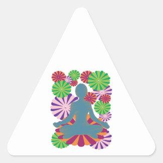 Yoga Position Triangle Sticker