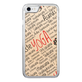 Yoga Positions Asanas Word Could Carved iPhone 7 Case