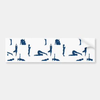 Yoga Positions Bumper Stickers