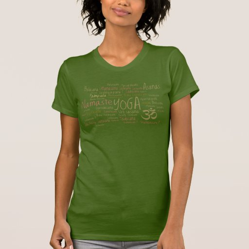 Yoga Positions Earth Colors Soft Greens T-Shirt