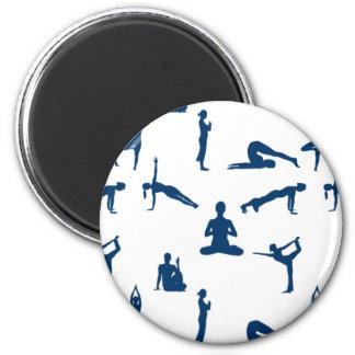 Yoga Positions Refrigerator Magnet