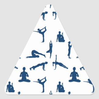 Yoga Positions Triangle Sticker