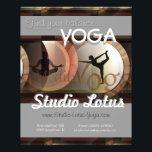 "Yoga publicity merchandising flyer<br><div class=""desc"">digitally design</div>"