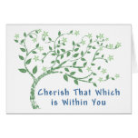 Yoga Quote: Cherish That Which is Within You Greeting Cards