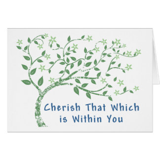 Power yoga greeting cards zazzle yoga quote cherish that which is within you card m4hsunfo