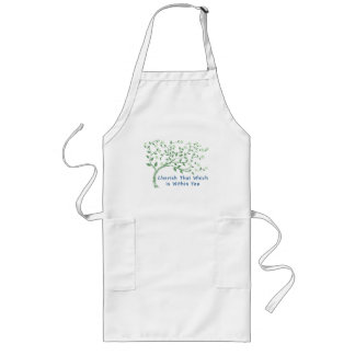 Yoga Quote: Cherish That Which is Within You Long Apron