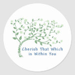 Yoga Quote: Cherish That Which is Within You Sticker