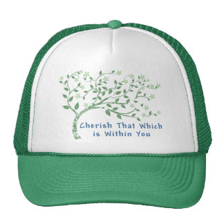Yoga Quote: Cherish That Which is Within You Trucker Hat