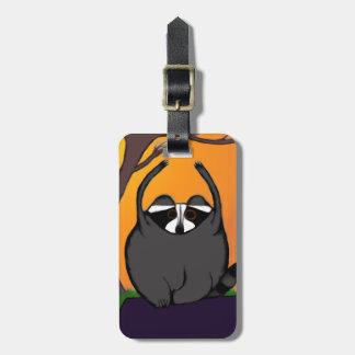 Yoga Raccoon luggage tag