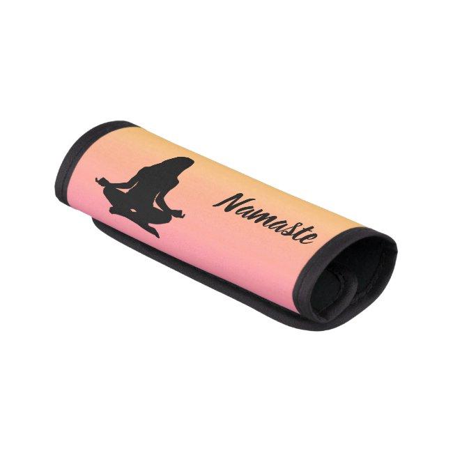 Yoga Rainbow Sunset Pink Luggage Handle Wrap