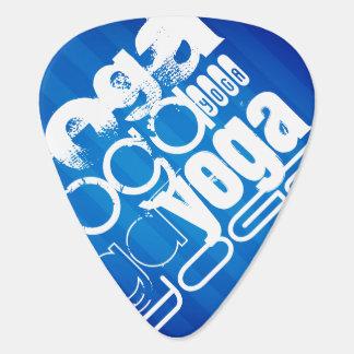 Yoga; Rayas azules reales Uñeta De Guitarra