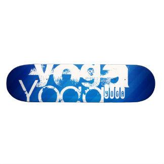 Yoga; Rayas azules reales Patín Personalizado