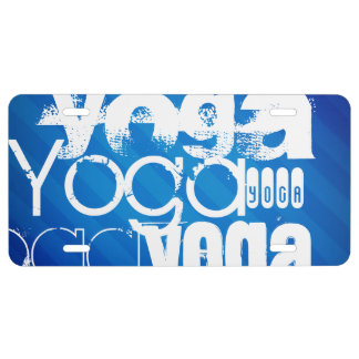 Yoga; Rayas azules reales Placa De Matrícula