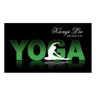 Yoga Reflections, Yoga Instructor, Yoga Class Business Cards