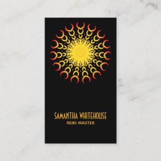 Yoga Reiki Mandala Sun Abstract Business  Card