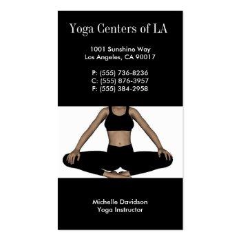 Yoga Relax Black profilecard