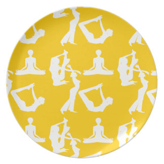Yoga relaxation exercise healthy melamine plate