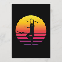 yoga retro sunset, #yoga