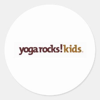 Yoga Rocks! Apparel Classic Round Sticker